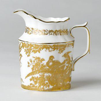 "Royal Crown Derby - ""Gold Aves"" Creamer"