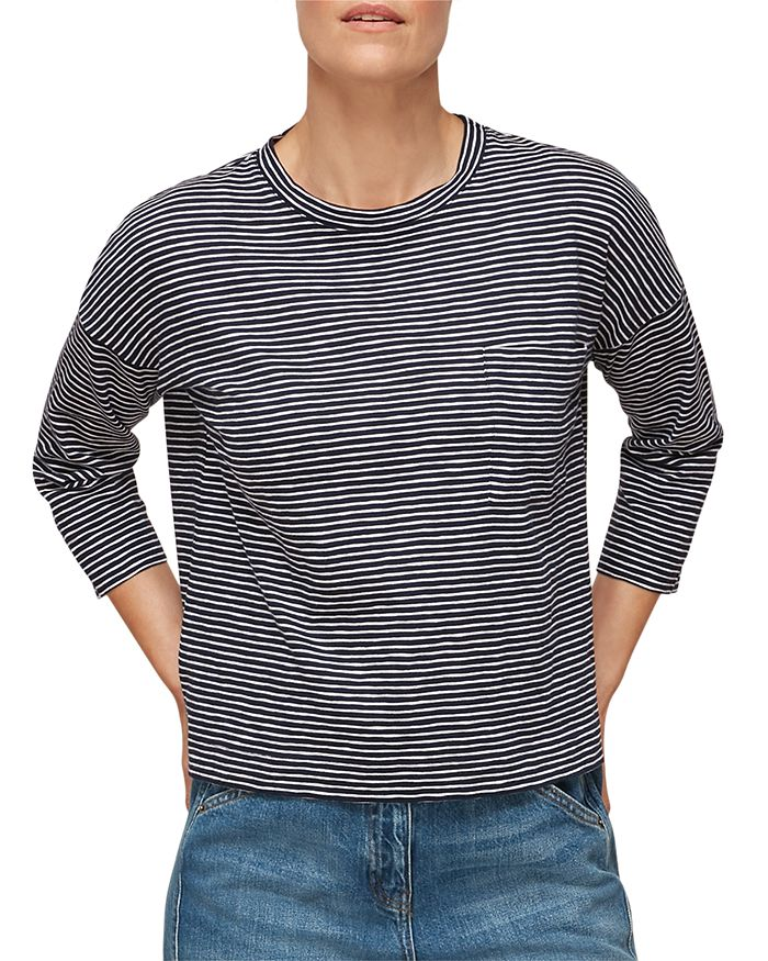 Whistles - Cotton Striped Top