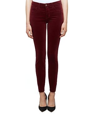 L\\\'Agence Marguerite Skinny Jeans in Merlot-Women