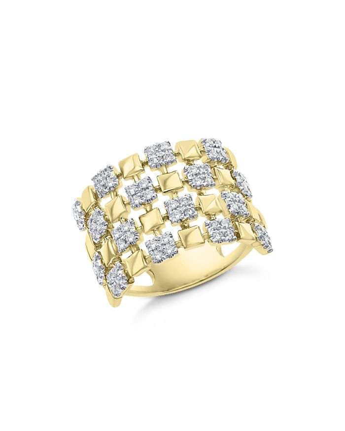 Bloomingdale's Diamond Checkered Statement Ring in 14K Yellow Gold, 0.50 ct. t.w. - 100% Exclusive  | Bloomingdale's