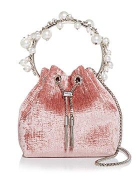 Jimmy Choo - Bon Bon Embellished Velvet Drawstring Bag