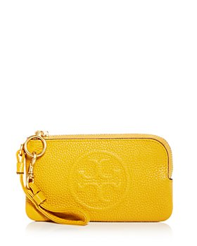 Tory Burch - Perry Bombé Leather Zip Card Case
