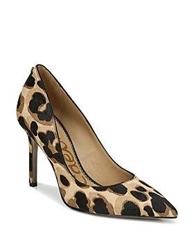 Sam Edelman - Women's Hazel Leopard Print Calf Hair High Heel Pumps