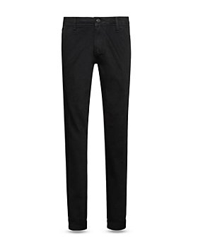 HUGO - 708 Cotton Stretch Straight Slim Fit Jeans in Black