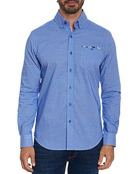 Robert Graham - Leroy Cotton Blend Pin Dot Dobby Tailored Fit Button Up Shirt