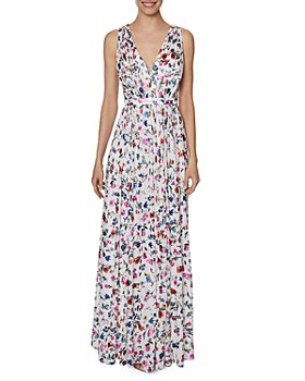 Laundry by Shelli Segal - Floral Print Pleated Gown