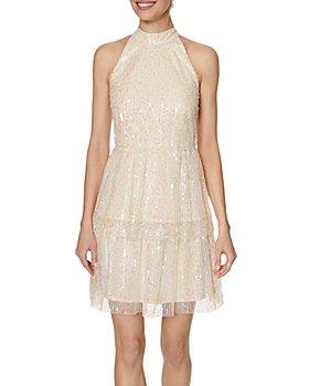 Laundry by Shelli Segal - Shimmer Halter Mini Dress