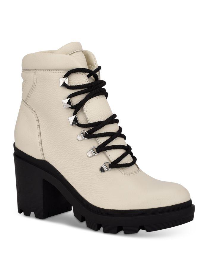 Marc Fisher LTD. Women's Kini Block Heel Hiker Booties    Bloomingdale's