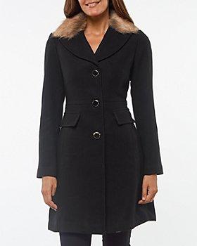 kate spade new york - Faux Fur Collar Coat