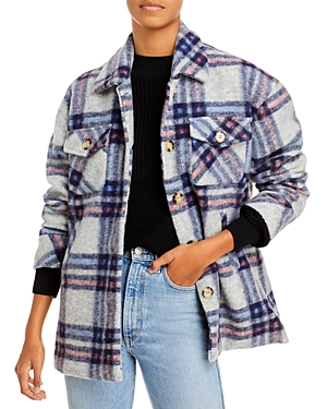 Aqua Button Down Plaid Coat - 100% Exclusive-Women