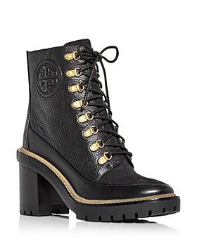 Tory Burch - Women's Miller High Block Heel Combat Boots
