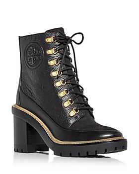 Tory Burch - Women's Miller High Block Heel Combat Boots
