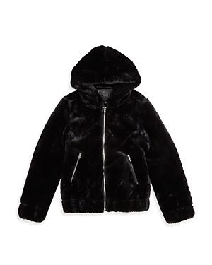 Blanknyc Girls\\\' Uptown Girl Faux Fur Jacket - Big Kid-Kids