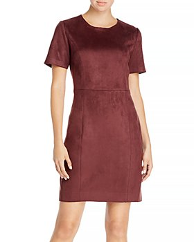 T Tahari - Faux Suede Dress