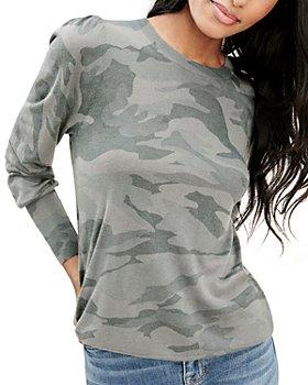Splendid - Whitney Camo Puff Sleeve Top