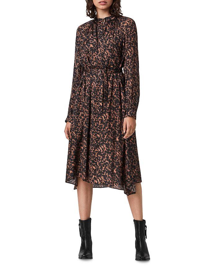 ALLSAINTS - Nina Torto Printed Belted Dress