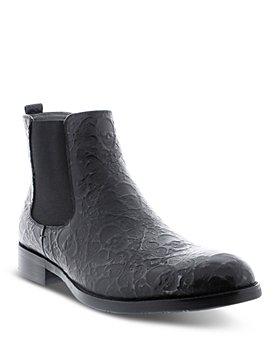 Robert Graham - Men's Driscoll Skull Embossed Pull On Chelsea Boots