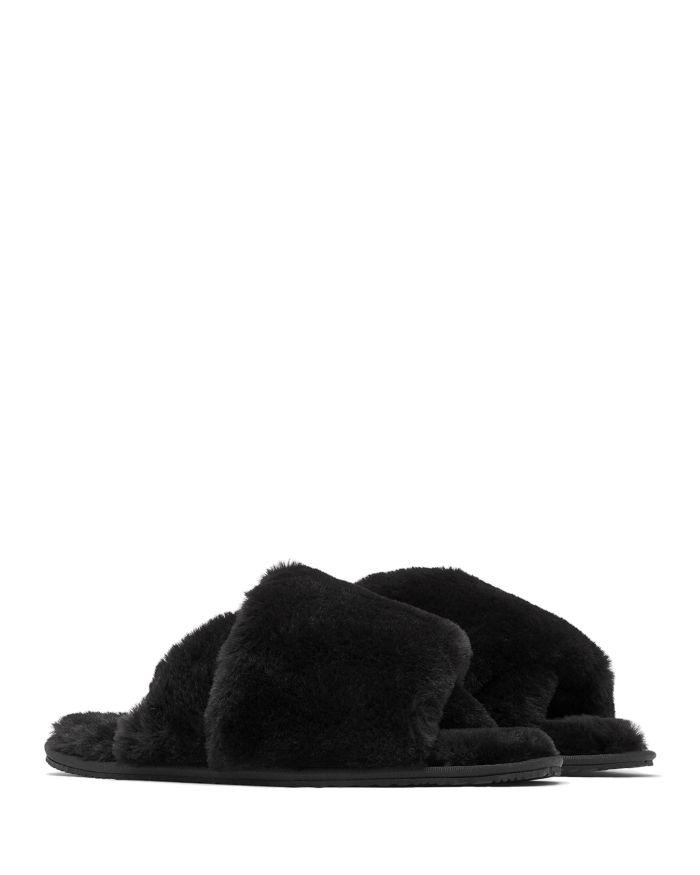 Sorel Women's Go Mail Run Faux Fur Slippers  | Bloomingdale's