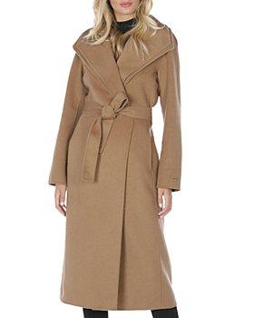 T Tahari - Double-Face Wrap Coat