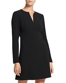 Theory - Long Sleeve Split Neck Dress
