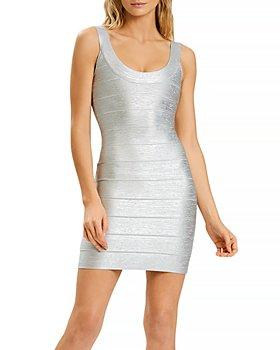Hervé Léger - Bandage Shimmer Mini Dress