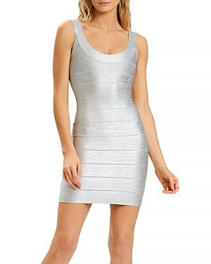 Herve Leger Bandage Shimmer Mini Dress