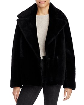 Theory - Clairene Reversible Shearling Moto Jacket