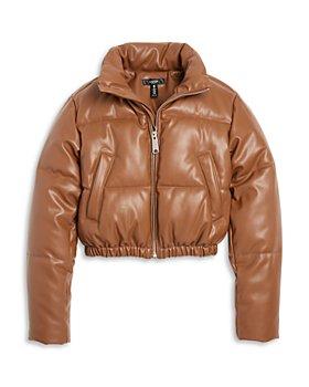 AQUA - Girls' Faux Leather Jacket - Big Kid - 100% Exclusive