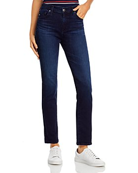 AG - High Rise Straight Leg Jeans in Dary Disarrayed