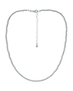 "AQUA - 3mm Beaded Collar Necklace, 14-16"" - 100% Exclusive"