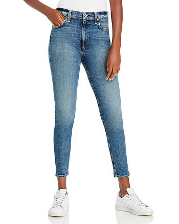 rag & bone - Nina High Rise Skinny Ankle Jeans in Copper Hil