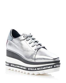 Stella McCartney - Women's Elyse Metallic Platform Sneakers