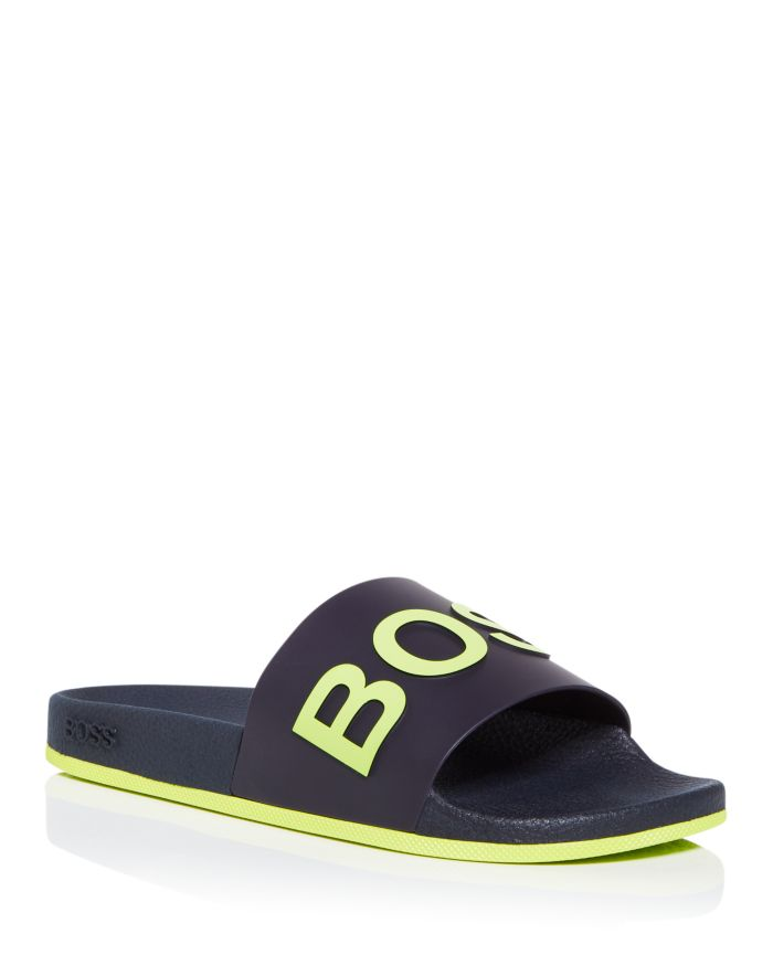 BOSS Hugo Boss Men's Logo Slide Sandals  | Bloomingdale's