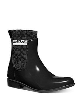 COACH - Women's Rivington Logo Knit Lining Rain Boots