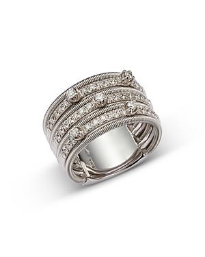 Marco Bicego 18K White Gold Diamond Multi Row Statement Ring - 100% Exclusive