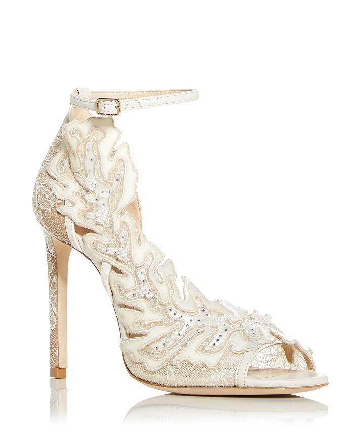 Jimmy Choo - Women's Lucele 100 Floral Ankle Strap High Heel Pumps