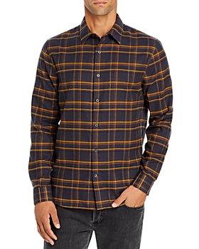 Vince - Slim Fit Windowpane Plaid Shirt