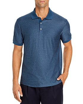 Theory - Cotton Micro Grid Regular Fit Polo Shirt