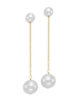 Bloomingdale's - Cultured Freshwater Pearl Drop Earrings in 14K Yellow Gold - 100% Exclusive