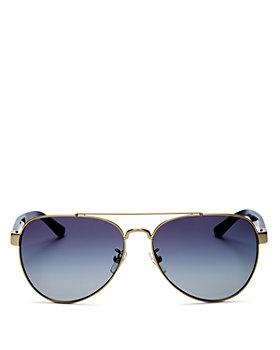 Tory Burch - Women's Brow Bar Aviator Sunglasses, 57mm