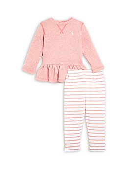 Ralph Lauren - Girls' Ruffled Top & Leggings Set
