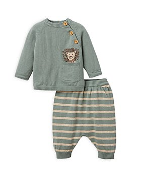 Elegant Baby - Boys' 2 Pc. Lion Sweater & Striped Pants Set - Baby