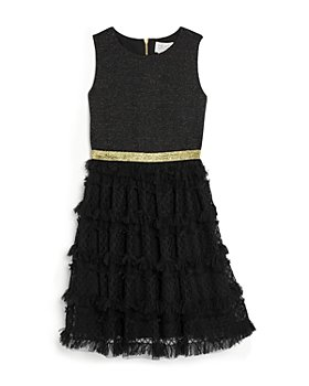 US Angels - Girls' Sleeveless Metallic Ponte Dress - Little Kid, Big Kid