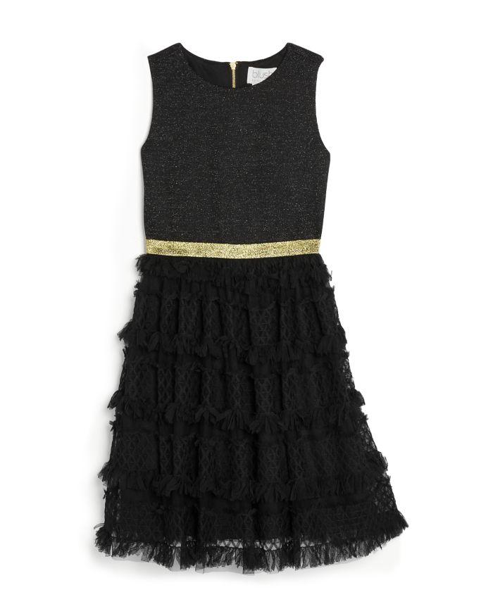 US Angels Girls' Sleeveless Metallic Ponte Dress - Little Kid, Big Kid  | Bloomingdale's
