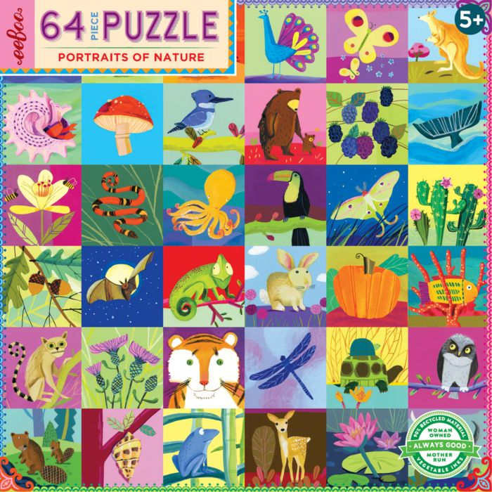 EeBoo Portraits of Nature 64 Piece Puzzle - 5+  | Bloomingdale's