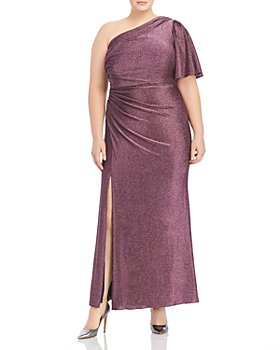 Adrianna Papell Plus - Metallic Jersey Gown