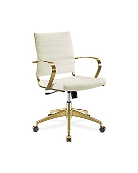 Modway - Jive Gold-Tone Stainless Steel Midback Office Chair