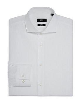 BOSS - Men's Jason Cotton Textured Slim Fit Dress Shirt