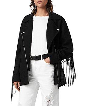 ALLSAINTS - Robyn Macrame Trim Moto Jacket