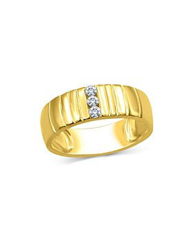 Bloomingdale's - Men's Diamond Three-Stone Ring in 14K Yellow Gold, 0.15 ct. t.w. - 100% Exclusive